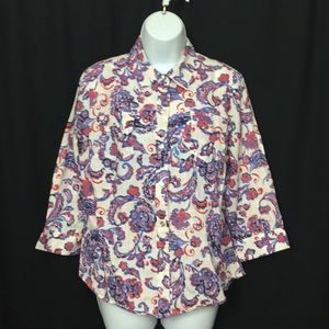 Karen Scott Large Button Down